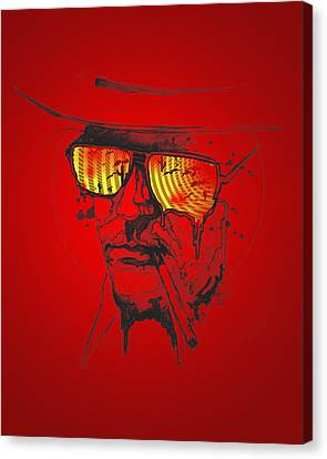 Hunter S. Thompson Canvas Print by Pop Culture Prophet
