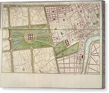 Hyde Park Canvas Print by British Library