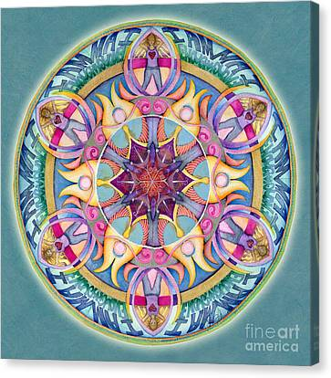 I Am Enough Mandala Canvas Print by Jo Thomas Blaine