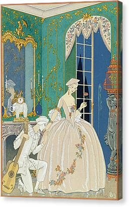 Illustration For 'fetes Galantes' Canvas Print by Georges Barbier