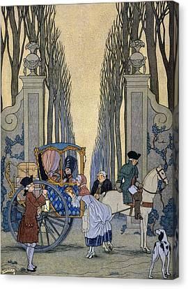 Illustration From 'les Liaisons Dangereuses'  Canvas Print by Georges Barbier
