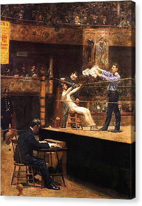 In The Mid Time Canvas Print by Thomas Eakins