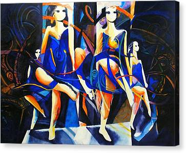 In Time Canvas Print by Georg Douglas