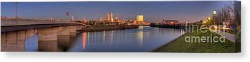 Indianapolis From White River Canvas Print by Twenty Two North Photography