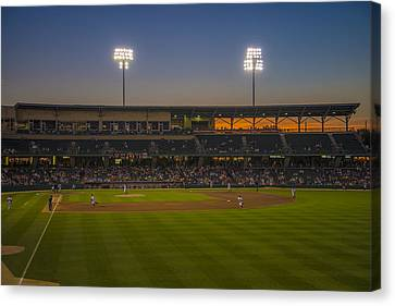 Indianapolis Indians Victory Field Sunset 4694 Canvas Print by David Haskett