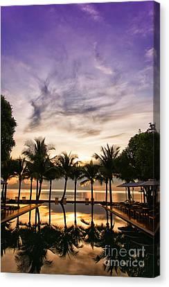 Infinity Pool Sunrise Canvas Print by Antony McAulay