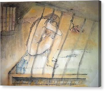 Inside Mental Illness Album Canvas Print by Debbi Chan