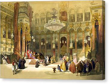 Inside The Church Of The Holy Sepulchre Canvas Print by Munir Alawi
