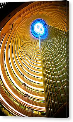 Interiors Of Jin Mao Tower Looking Canvas Print by Panoramic Images