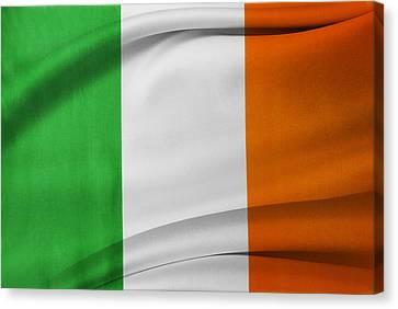 Irish Flag Canvas Print by Les Cunliffe