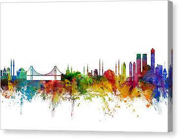 Istanbul Turkey Skyline Canvas Print by Michael Tompsett