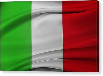 Italian Flag  Canvas Print by Les Cunliffe