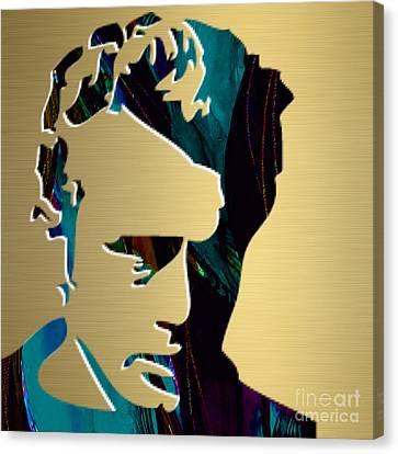 James Dean Gold Series Canvas Print by Marvin Blaine