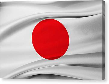 Japanese Flag Canvas Print by Les Cunliffe