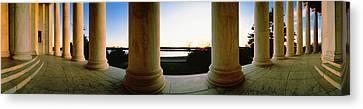 Jefferson Memorial Washington Dc Usa Canvas Print by Panoramic Images
