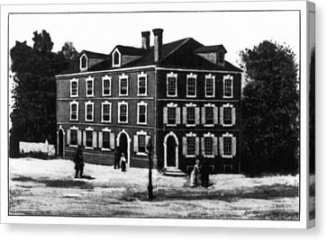 Jefferson's House, 1776 Canvas Print by Granger