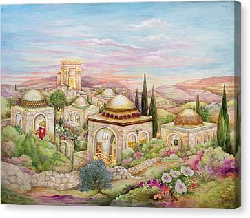 Jerusalem Landscape Canvas Print by Michoel Muchnik