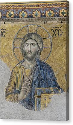 Jesus Christ In Istanbul Turkey Canvas Print by Brandon Bourdages
