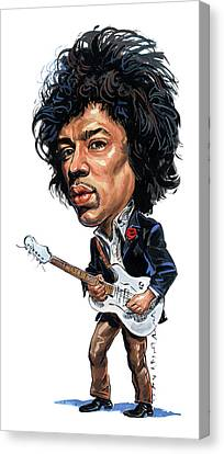 Jimi Hendrix Canvas Print by Art