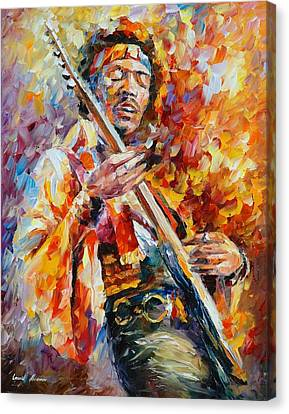 Jimi Hendrix Canvas Print by Leonid Afremov