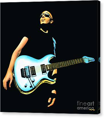 Joe Satriani Painting Canvas Print by Paul Meijering