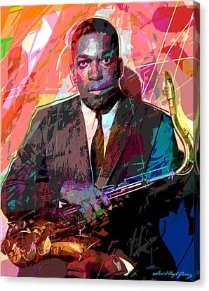 John Coltrane Canvas Print by David Lloyd Glover