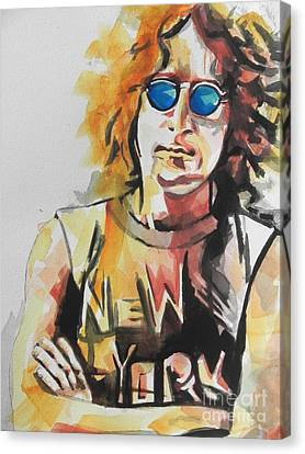 John Lennon 04 Canvas Print by Chrisann Ellis