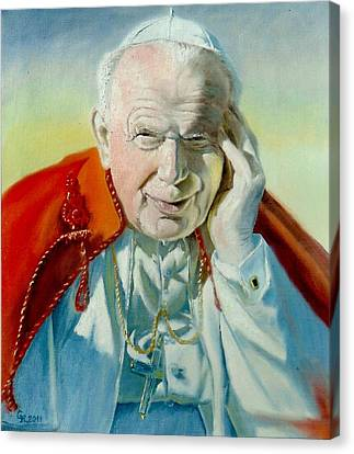 Saint John Paul II Canvas Print by Henryk Gorecki