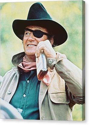 John Wayne In True Grit  Canvas Print by Silver Screen