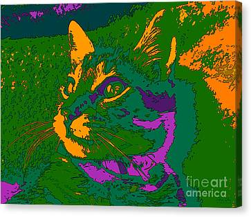 Jungle Cat Canvas Print by Hanza Turgul