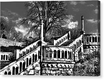 Kalemegdan Fortress Stairs Canvas Print by Milan Karadzic