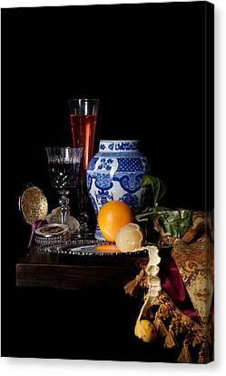 Kalf - Still Life With A Chinese Porcelain Jar  Canvas Print by Levin Rodriguez