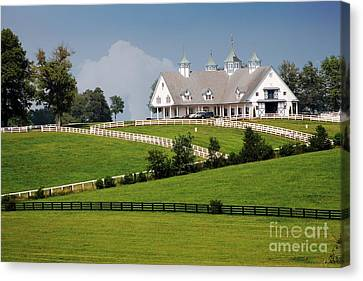 Keeneland Stables Canvas Print by Bruce LaDuke