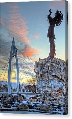 Keeper Of The Plains Canvas Print by JC Findley