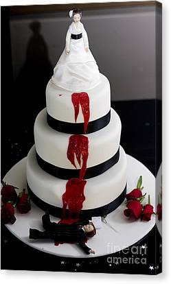 Killer Bride Wedding Cake Canvas Print by Jorgo Photography - Wall Art Gallery