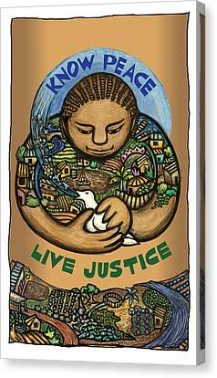 Know Peace Canvas Print by Ricardo Levins Morales