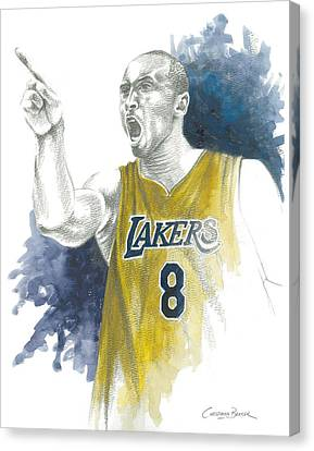 Kobe Bryant Canvas Print by Christiaan Bekker