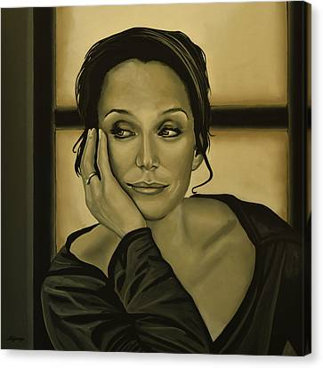 Kristin Scott Thomas Canvas Print by Paul Meijering
