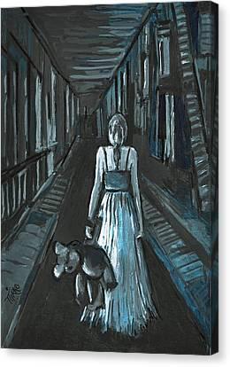 La Fille Au Bout Du Tunnel Canvas Print by Mirko Gallery