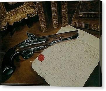 La Lettre Canvas Print by Guillaume Bruno