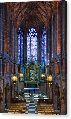 Lady Chapel Inside Liverpool Cathedral Canvas Print by Ken Biggs