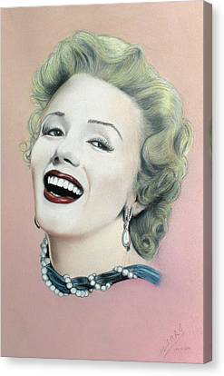 Lady In Pink Finished Canvas Print by Miguel Rodriguez