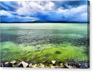 Lake Balaton Hungary Canvas Print by Odon Czintos