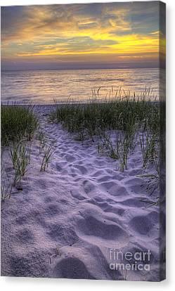 Lake Michigan Sunset Canvas Print by Twenty Two North Photography