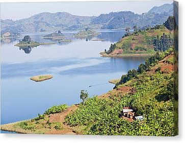 Lake Mutanda Near Kisoro In Uganda Canvas Print by Martin Zwick