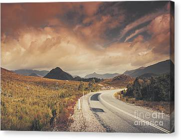 Lake Plimsoll Road. Tasmanian Landscape Canvas Print by Jorgo Photography - Wall Art Gallery