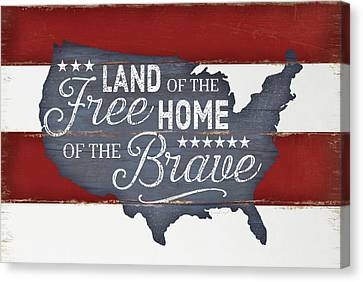 Land Of The Free Canvas Print by Jennifer Pugh