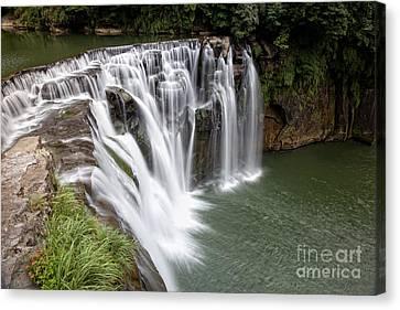 Landscape Shifen Waterfall In Taiwan Canvas Print by Fototrav Print