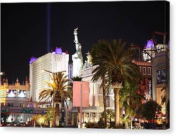 Las Vegas - New York New York Casino - 12122 Canvas Print by DC Photographer