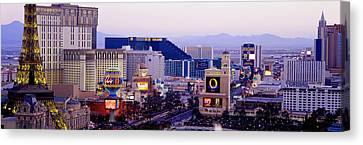 Las Vegas Nv Usa Canvas Print by Panoramic Images